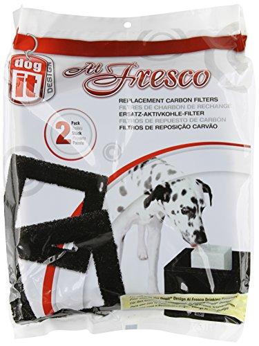 dogit 90202 Ersatzreinigungsfilter für Trinkbrunnen 90200 Al Fresco, 2er Pack