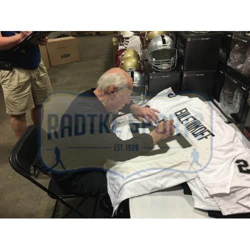hot sale online bac42 00fa0 Fred Biletnikoff Signed Oakland Raiders White Custom Jersey ...