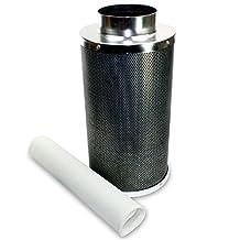 "VenTech VT CF-6 Hydroponic Carbon Charcoal Air Scrubber Odor Control Filter, 6"" x 20"""