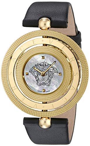 Versace Women's VQT020015 Eon Analog Display Quartz Black Watch