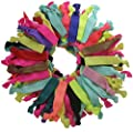 Elastic Hair Ties, No Crease Ouchless Ribbon Ponytail Holders, Bows Rubber Yoga Twist Hair Bands Accessories, Hand Knotted Fold Over Solid Colors