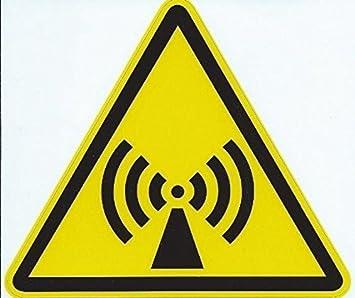 4.5 in x 4 en antena señal de radiación de vinilo Adhesivos ...