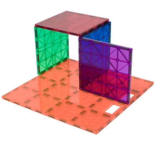 Playmags: Super Durable Building Stabilizer Set, Great add on to all Magnet Tiles Sets, Works with all Leading Brands 1 - 12
