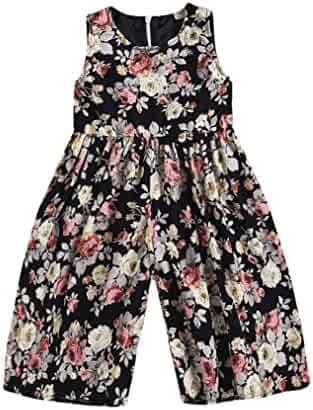 SMALLE◕‿◕ Clearance,Kids Toddler Baby Floral Girls Outfits Clothes Romper Overall Trousers Jumpsuit