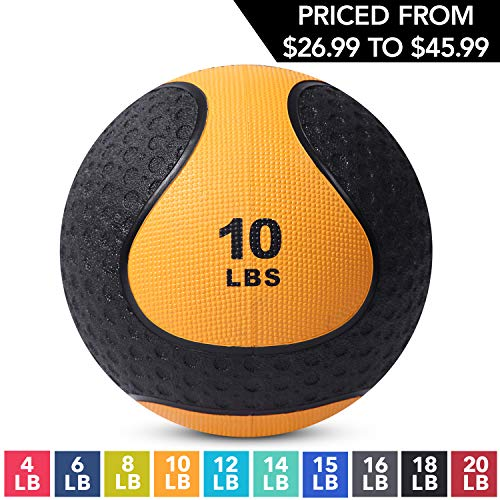 Medicine Exercise Ball with Dual Texture for Superior Grip by