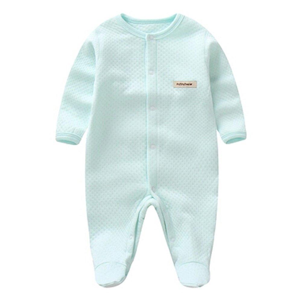Blancho Breath Autumn Bodysuit Feet Abdeckung Strampler Baby-Overall, minzgrün KE-CLO1046184-JELLY04648