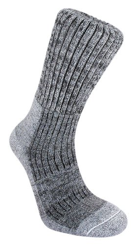Bridgedale Men's MerinoFusion Trekker Socks, Grey, Large (Bridgedale Comfort Trail Sock)
