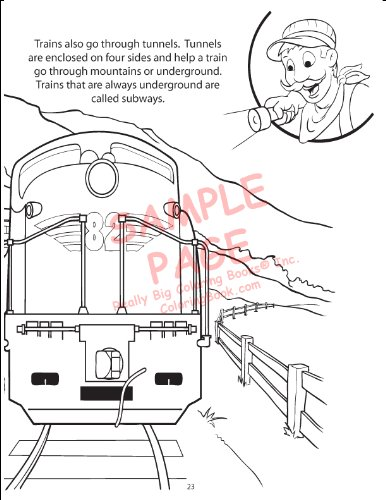 Trains Coloring Book 85x11 ColoringBook Really Big Books 9781935266273 Amazon
