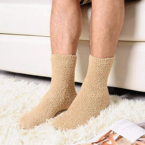 HS store Extremely Cozy Cashmere Socks Women Men Winter Warm Sleep Bed Floor Home Fluffy (Khaki)