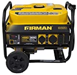 Firman P03602 Gas Powered 3650/4550 Watt (Performance Series) Longer Run Time Portable Generator with Wheel Kit