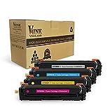 V4INK New Compatible HP 202A CF500A CF501A CF502A CF503A Toner Cartridge for HP Color LaserJet Pro MFP M281dw M281cdw M281fdw, MFP M280, M254dw, 4 Pack