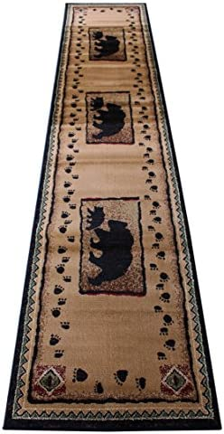 Cabin Lodge Long Runner Area Rug