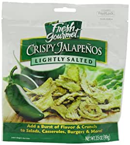 Fresh gourmet Crispy Jalapenos, Lightly Salted, 3.5-Ounce (Pack of 6)