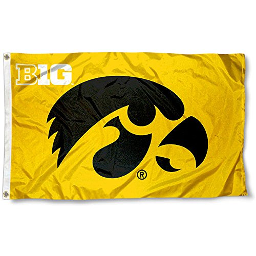Hawkeyes Big 10 3x5 Flag (Big Flags Ten)