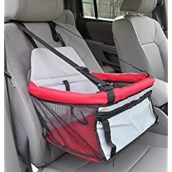 Pawhut Deluxe Pet / Dog Car Booster Seat - Red