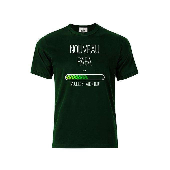 d83e35e77bac3 Mygoodprice T-Shirt col Rond Enfant Nouveau Papa en Cours Chargement   Amazon.fr  Vêtements et accessoires