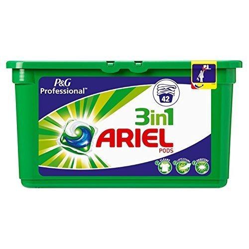 Ariel vainas de 3 en 1 Lavado Regular cápsulas Liquitabs, 42 ...