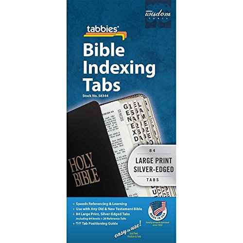 Large Print Silver Edged Old and New Testament Bible Indexing Tabs