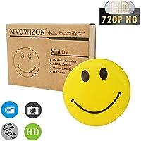 MVOWIZON Spy Cam with Mini Smiley Smile Face Button Pins with camera Spy Camera Security Camera Nanny Cam