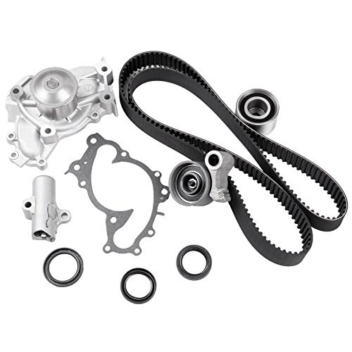 ECCPP Timing Belt Water Pump Kit Fits 2001-2010 Toyota Camry Solara Highlander Sienna Lexus RX330 RX400h ES330 Engine 3.0L 3.3L 1MZFE 3MZFE