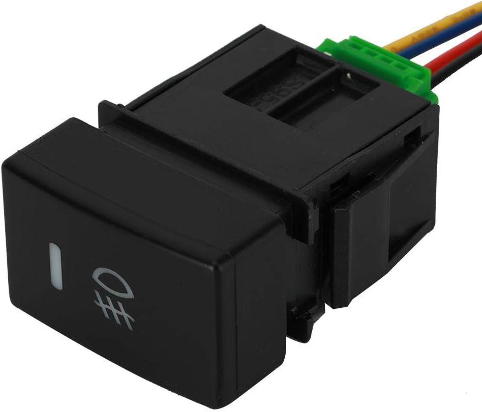 bianca interruttore a pulsante momentaneo a LED per auto 12mm Attiva//disattiva custodia nera 2A Interruttore a pulsante istantaneo universale Suuonee