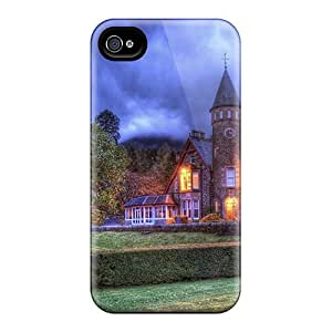 Awesome Gorgeous Mansion At Dusk Hdr Flip Case With Fashion Design For Iphone 4/4s