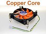 1155 cooling fan - iCool Intel CPU i3 i5 LGA 1150 / 1151 / 1155 Low Profile 1U Copper Core Cooling Fan 95W PWM