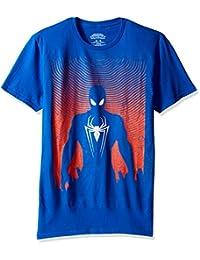 Marvel Mens Spider-Man Silhoutte Short Sleeve Graphic T-Shirt