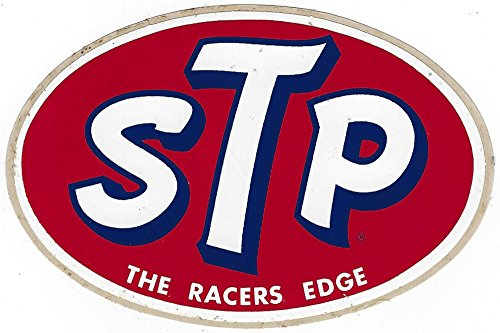 (STP Racing Decal Sticker From 1960's the Racers Edge Vintage)