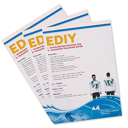 Sublimation Paper Heat Transfer Sheets - EDIY 8.5