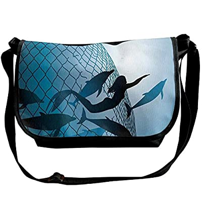 fd85f57ec3 durable service Lovebbag A Mermaid Rescues Flight Of Dolphins From A  Fishing Net Freedom Diver Crossbody