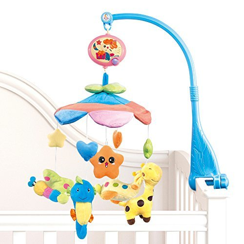 NextX Flash B201 Baby Bedding Crib Musical Mobile with Hanging Rotating Soft Colorful Plush Dolls, 20 - Crib Born Newborn Baby