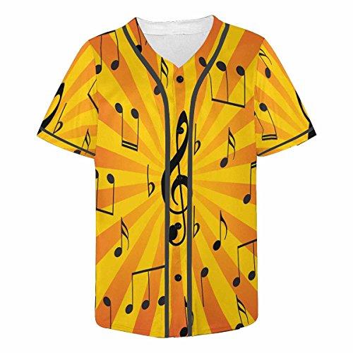 Sunburst Short Sleeve Top - INTERESTPRINT Men's Athletic Trainning Short Sleeve Jersey Tops Sunburst Music Notes 4XL