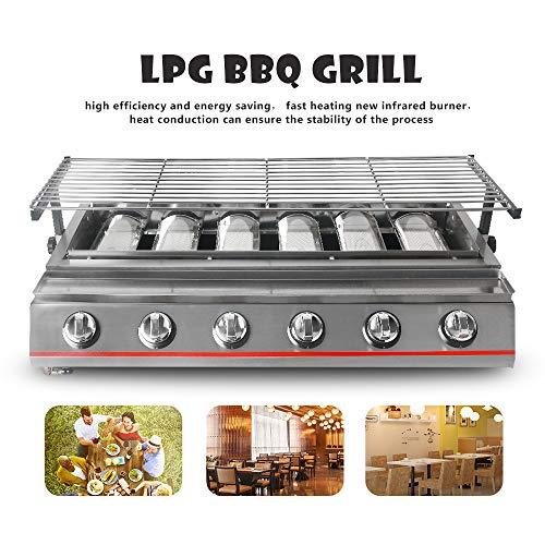 Itop 6 Grabadora Amarillo BBQ Parrilla de gas Acero - Rótulo ...