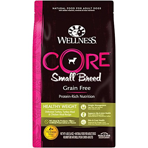 Wellness Core Natural Grain Free Dry Dog Food, Small Breed Healthy Weight, 4-Pound Bag from Wellness Natural Pet Food