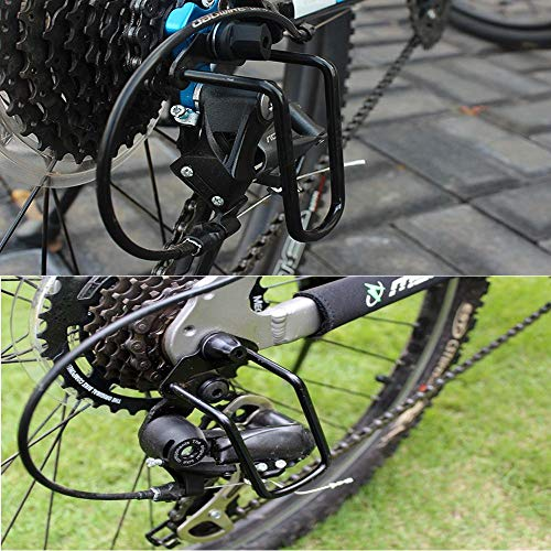 ANUSA 1Pcs Adjustable Steel Bicycle Mountain Bike Rear Gear Derailleur Chain Stay Guard Protector Outdoor Cycling Accessories Durable by ANUSA