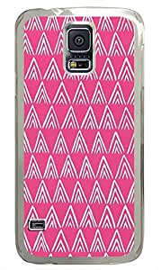 Samsung S5 leather covers Chevron Pink Pattern Backgrounds PC Transparent Custom Samsung Galaxy S5 Case Cover
