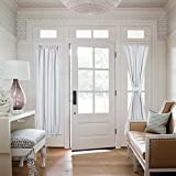 curtain panels for doors - Room Darkening French Door Curtains - NICETOWN Room Darkening Patio Door Thermal Curtain Panels, Side Lights Door Panels 25