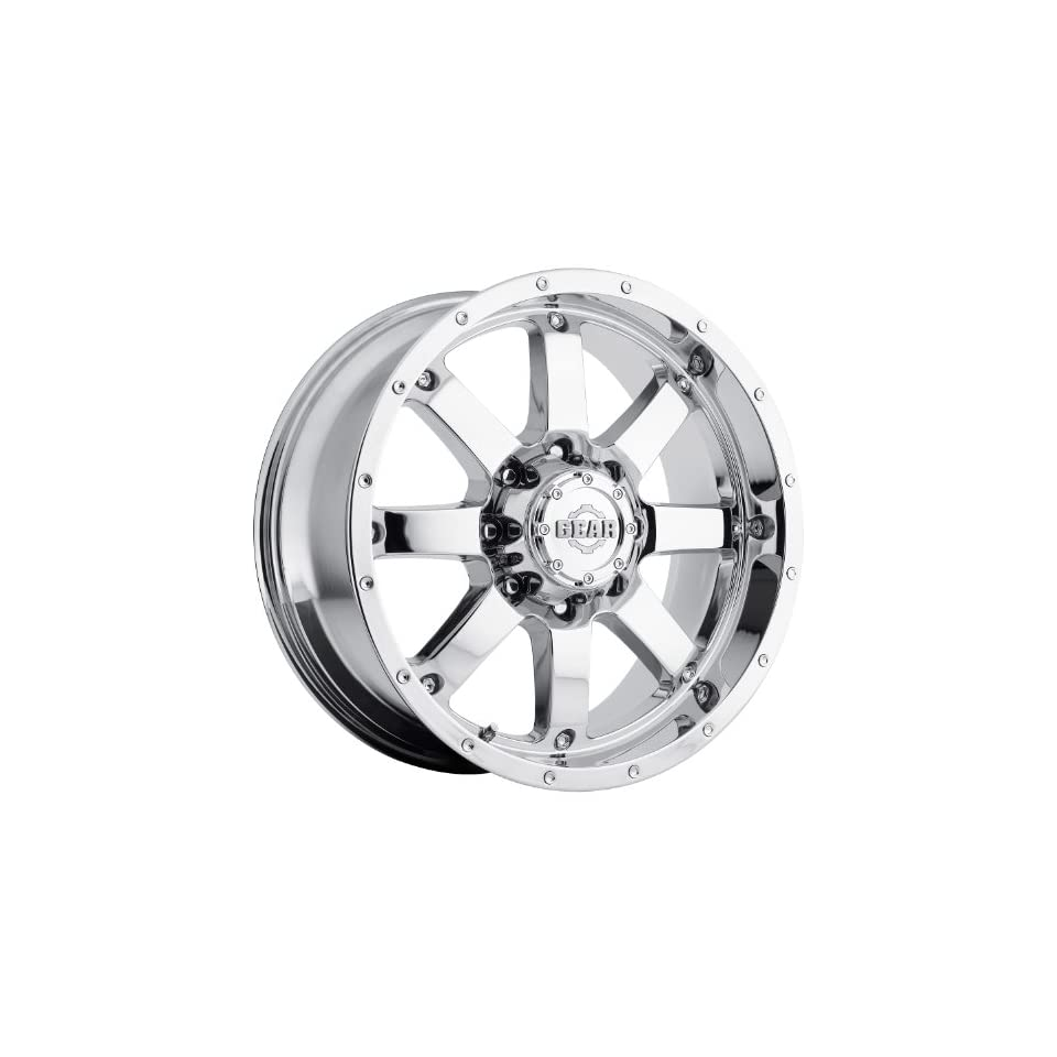 Gear Alloy Big Block 20 Chrome Wheel / Rim 5x5 & 5x5.5 with a 0mm Offset and a 78 Hub Bore. Partnumber 726C 2090900
