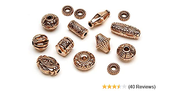 Copper Cousin Jewelry Basics 45-Piece 6mm Rondelle Bead