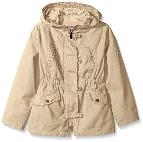 Urban Republic Little Girls' Cotton Twill Anorak Jacket, Khaki, 5/6
