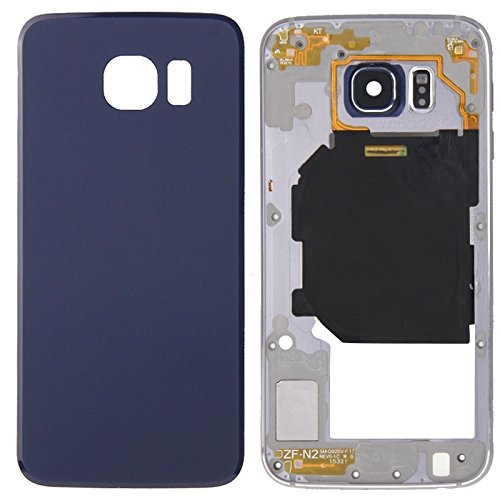 Replacement Parts New Full Housing Cover(Back Plate Housing Camera Lens Panel + Battery Back Cover) for Samsung Galaxy S6 / G920 Repair Broken Cellphone. (Color : Blue)
