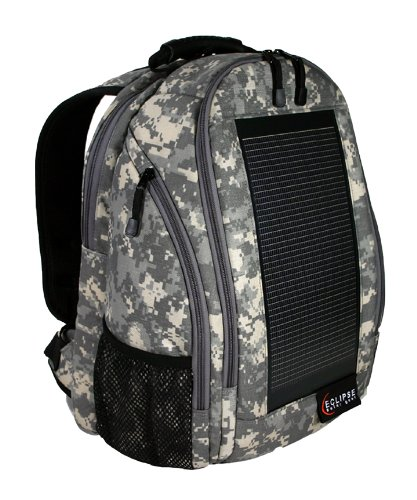 Eclipse Solar Backpack – Camo, Outdoor Stuffs