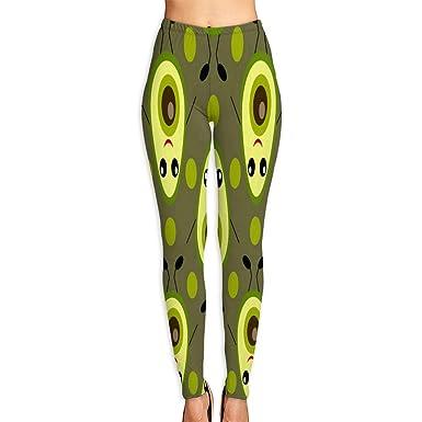 24165fffd3c64 Custom Yoga Pants Cute Avocado Leggings Pants for Yoga Running Pilates Gym  for Women/Girls at Amazon Women's Clothing store: