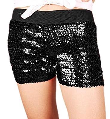 Alivila.Y Fashion Sexy Sequins Elastic Stretch Hot Pants Club Mini Shorts Pants