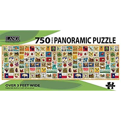 Lang Stamp Collection Panoramic Puzzle 750 Piece By Perfect Timing Puzzles