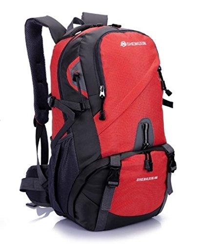 Enchufes de fábrica hombros alpinismo bolsas 40L gran capacidad al aire libre Mochila montañismo fines viajes, verde: Amazon.es: Deportes y aire libre