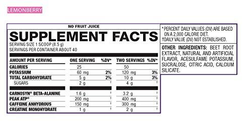 EAS Myoplex Pre-Workout Powder Lemon Berry, 12 ounce