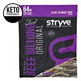 Stryve Biltong Keto Protein Snacks - Healthy Air Dried Beef | More Protein Than Beef Jerky, Low Carb, Sugar Free, Paleo Friendly | Original, 4oz