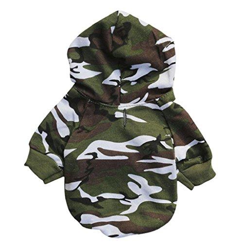 Sueter de camuflaje para mascotas,RETUROM caliente de la moda del perrito caliente del animal doméstico del perro del camuflaje ropa del suéter con capucha (S)